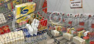 """Supermercados rusos venden """"carritos del apocalipsis"""" para frenar compras de pánico"""