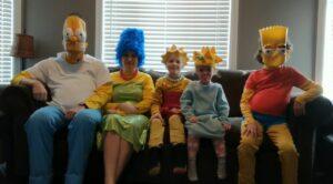 Una familia recrea la intro de Los Simpson en plena cuarentena