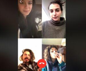 """Jóvenes """"comparten"""" un cigarro de marihuana por videollamada"""