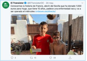 Niño español dona beca a su amigo para pagar una cirugía que necesita