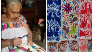 Muere a los 87 años la creadora del bordado de Tenango