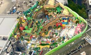 Así luce desde el aire el parque Super Nintendo World en Japón