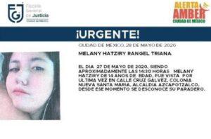 Activan Alerta Amber para encontrar a Melany Hatziry, desaparecida en Azcapotzalco
