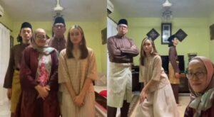 Familia de Malasia se hace viral por su video bailando por el fin del Ramadán