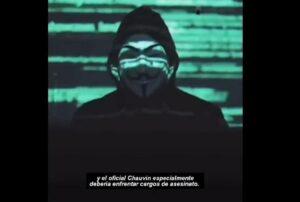 Anonymus reaparece y amenaza a policía de EU tras muerte de George Floyd