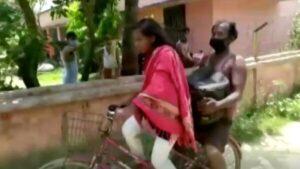 Joven de la India viaja mil 200 kilómetros en bici para salvar a su padre