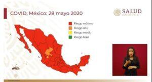 """México entra a la """"nueva normalidad"""" con casi todos los estados en riesgo máximo"""