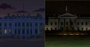 La Casa Blanca a oscuras: ¿otra prediccion de Los Simpson?