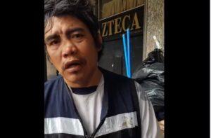"""""""Échanos la mano, no seas gachito"""", pide hombre en situación de calle a AMLO"""