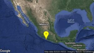 Se registra sismo de magnitud 4.6 en Petatlán, Guerrero