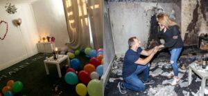Hombre incendia por accidente su casa al pedirle matrimonio a su novia