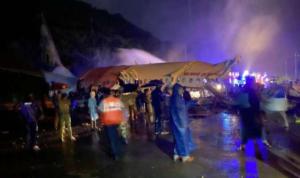 Avión con 190 pasajeros sufre accidente y se parte en dos en aeropuerto de la India