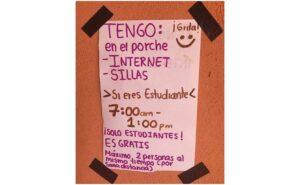 Joven ofrece internet gratis a estudiantes de Chocholá, Yucatán