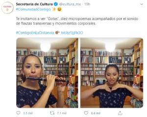 Tuit de la Secretaría de Cultura desata memes y albures