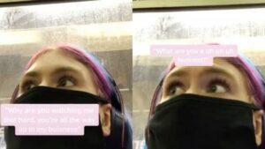 Una joven enfrenta a hombre que acosaba a una mujer en el tren de NY